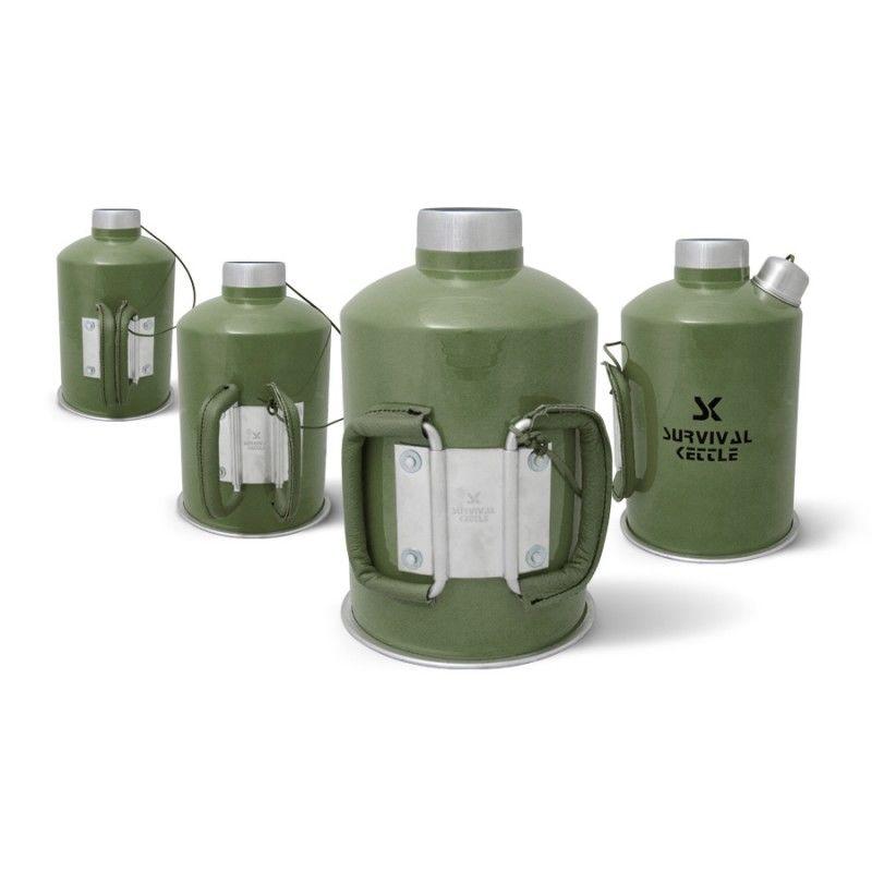 Camping Wasserkessel 1.2 L Survival Kettle Grün Wasserkessel Kettle ...