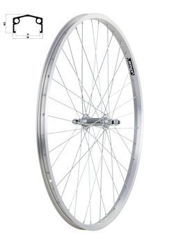 "Aluminum Front Bicycle Wheel 26"" steel hub"