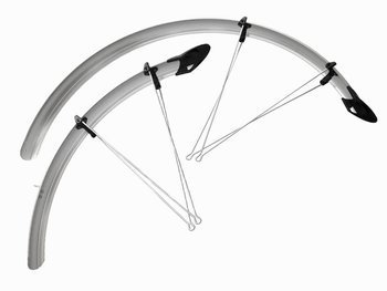 "Mudguards Set Orion Silver Mudguards  20"" x 53mm"
