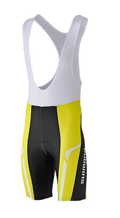 Shimano Print Bib Shorts Lime Yellow