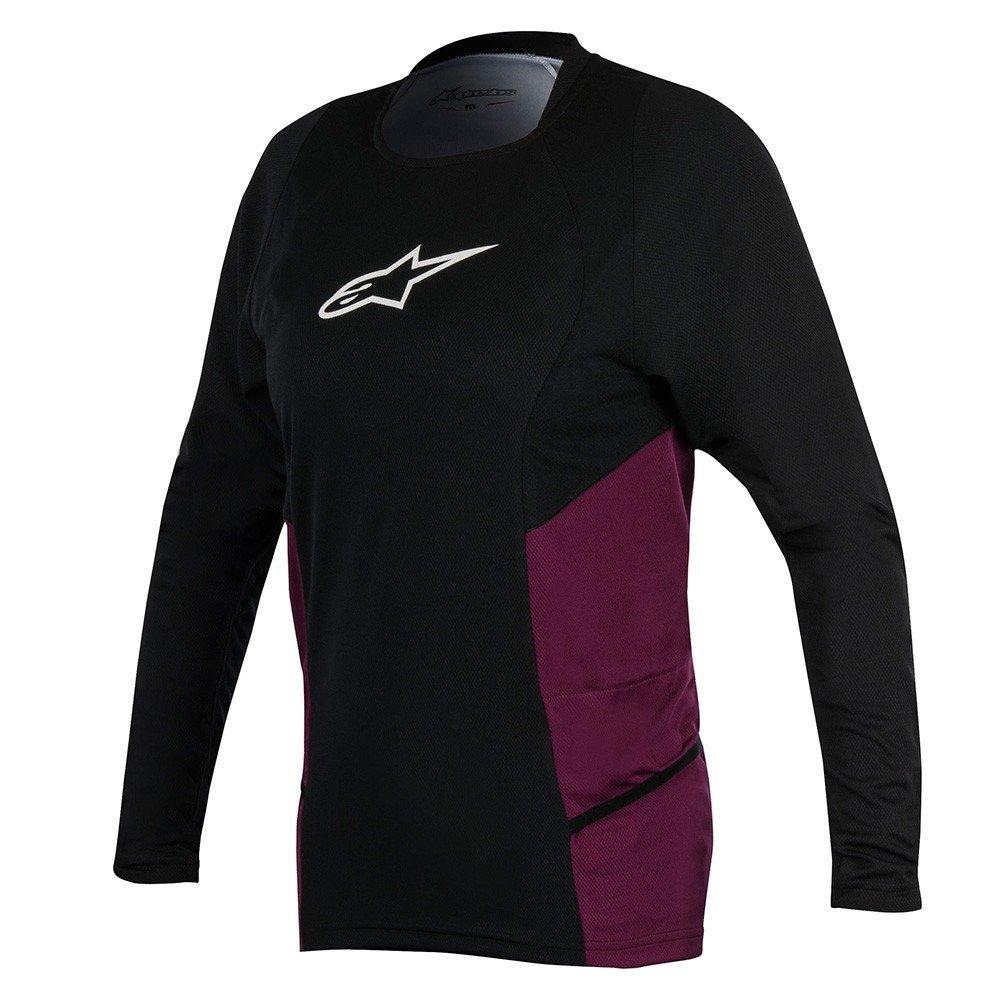 Alpinestars STELLA DROP 2 LS JERSEY black -plum S - Clothing and ... b7f42f7b7