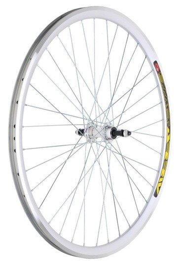 "Aluminum Rear Bicycle Wheel 24"", rim cone silver, Aluminum hub"