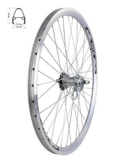 "Aluminum Rear Bicycle Wheel 26"", rim cone, coaster hub, Favorit"