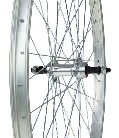 "Aluminum Rear Bicycle Wheel 28"" 1 3/8 Aluminum hub"