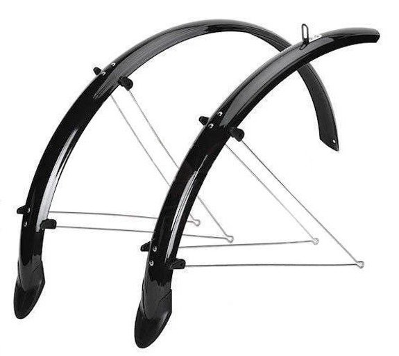"Black Mudguards Set Orion 26"" x 53mm Mudguards"