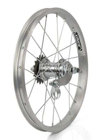 "Rear Bicycle Wheel 16"",Aluminum rim, steel coaster hub Favorit"