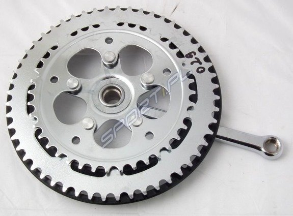 Right Crank 2-speed  52x40T 165mm