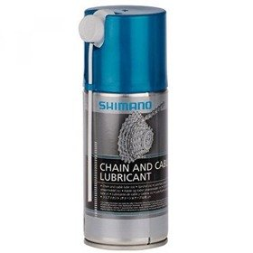 Shimano Chain and Cable Oil Dry Spray Can 125ML Chain and Cable Lubricant