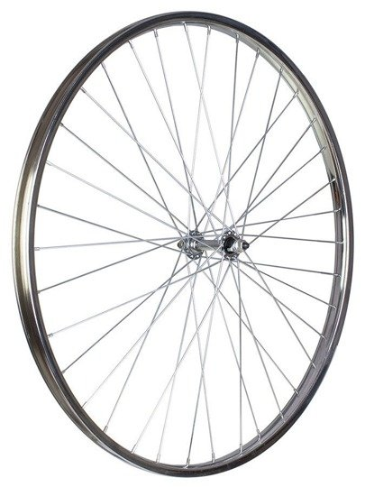 "Steel  Front Bicycle Wheel 28"", steel hub"