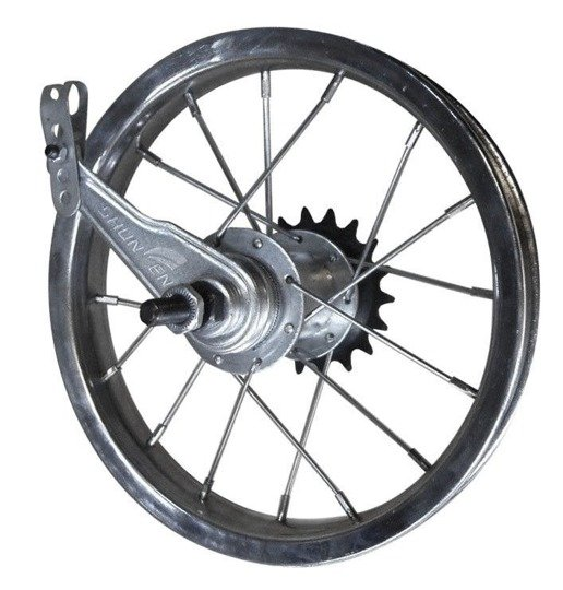 "Steel Rear Bicycle Wheel 12"" coaster hub Falcon"